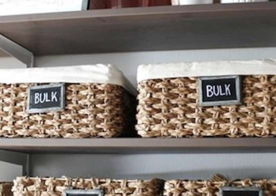 Organize Pantry Items With A Collection Of Fabric Lined Baskets. Chalkboard  Paint Labels Give You The flexibility To Easily Reorganize As Necessary  While ...