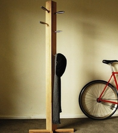 Diy coat rack 10 project designs bob vila for Diy standing coat rack ideas