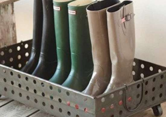 Rolling Boot Rack