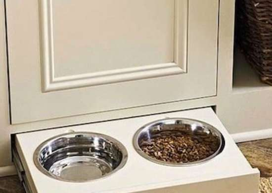 Pull Out Pet Bowls