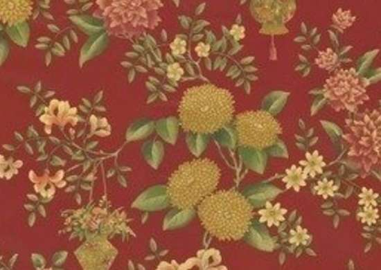 Waverly Lightfoot House Williamsburg Language of the Garden wallpaper