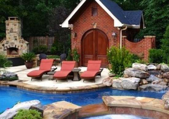 brick house - Cool Pools In Houses