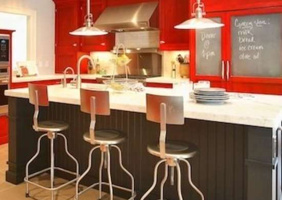 Red Kitchen Cabinets