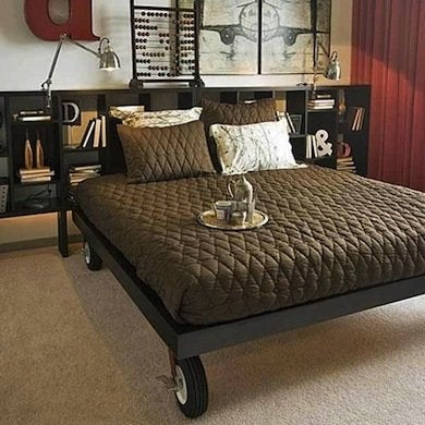DIY Bed On Casters