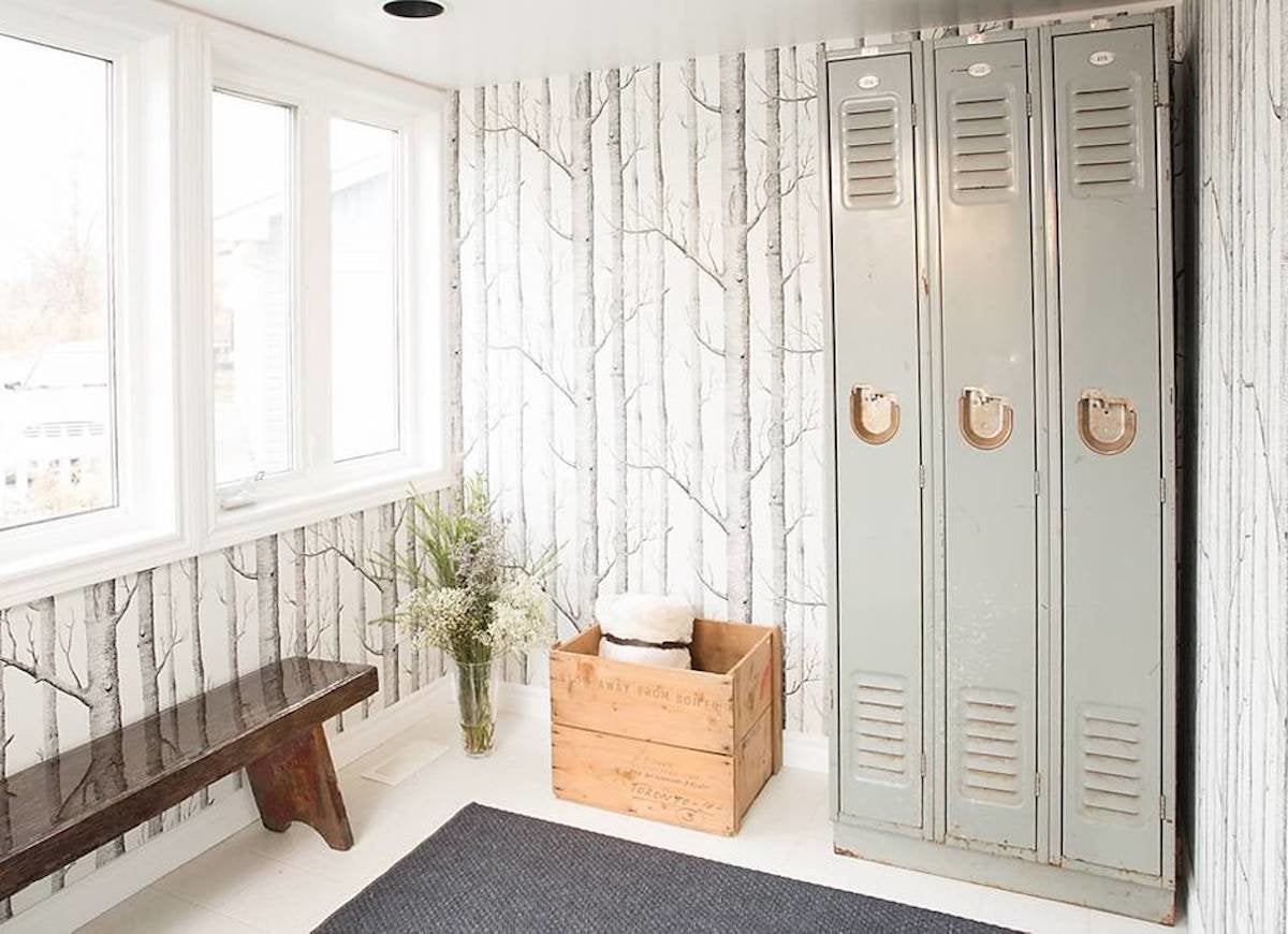Repurposed Mudroom Lockers