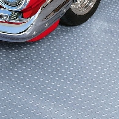Rolled rubber garage flooring