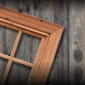 Jeld wen custom windows reclaimed wood