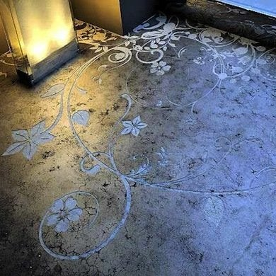 diy stamped concrete bathroom flooring ideas fresh ideas beyond tile bob vila. Black Bedroom Furniture Sets. Home Design Ideas