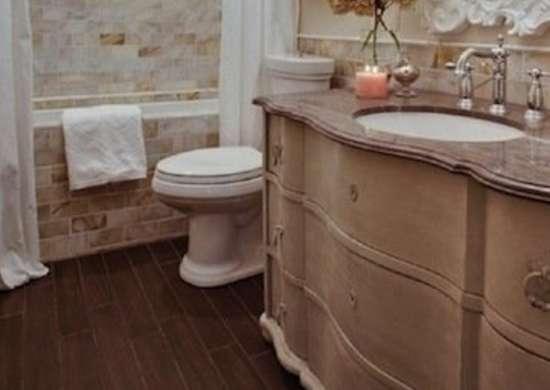 Hardwood in Bathroom