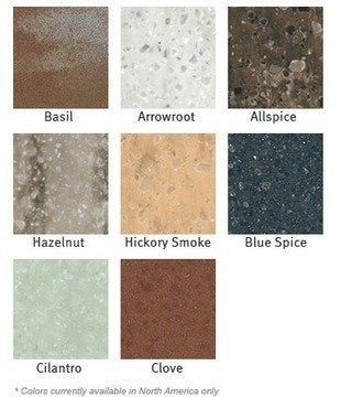 Dupont corian spice colors 2012
