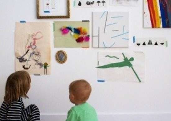 Kids Art Display Ideas