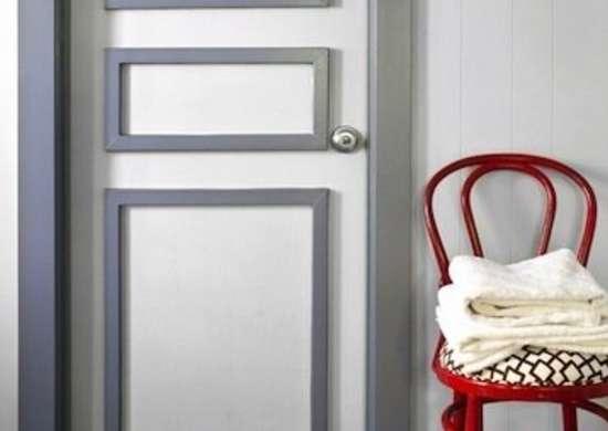 Door molding door decorating ideas 12 ways to dress up for Molduras para decorar puertas