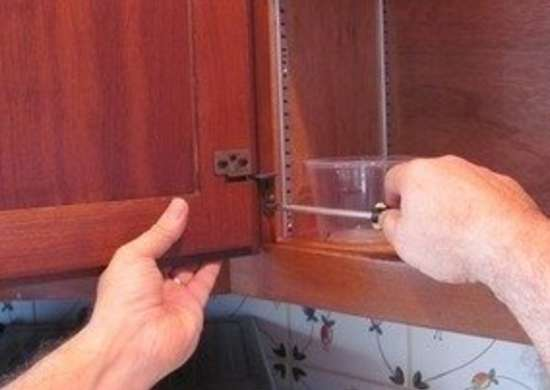 How to Paint Kitchen Cabinets - Remove Hardware