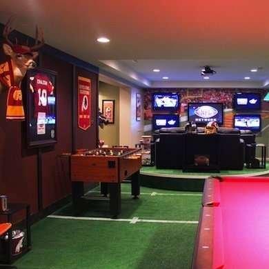 Cheap Flooring Ideas - Rec Room