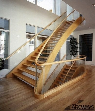 Wood And Glass. 4e5f751c892a2da9c47ab373d369ad7b. A Blond Toned Wood  Staircase Railing ...