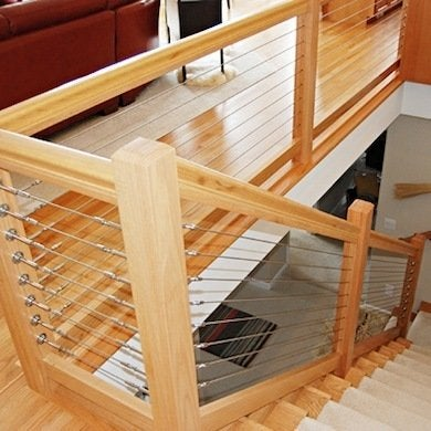 Of Wood Marries The Streamlined Look Stainless Steel Cable In This Diy Friendly Staircase Railing System Ropriate For Use Both Indoors And Out