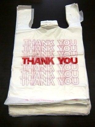 Plastic bag thank you