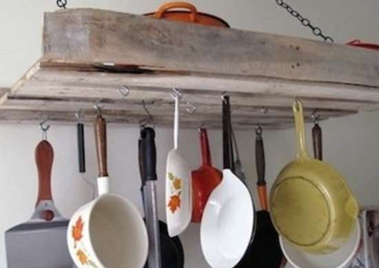 Shipping Pallet Pot Rack