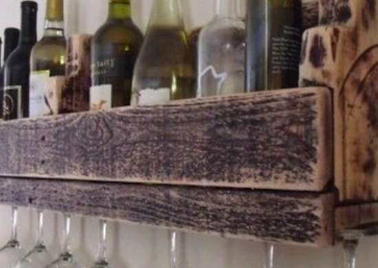 Shipping Pallet Wine Rack