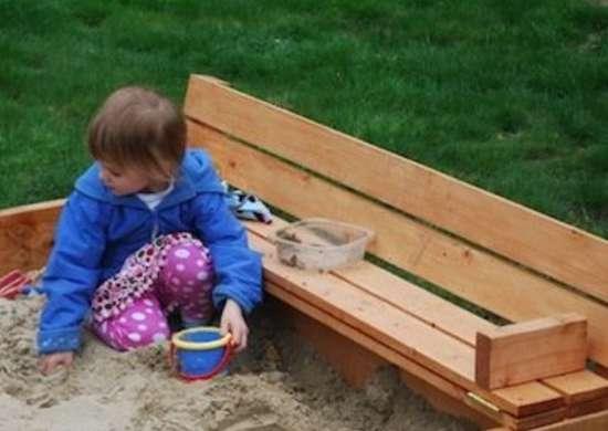Shipping Pallet Sandbox