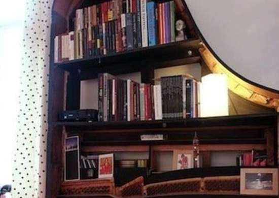 DIY Piano Bookshelf