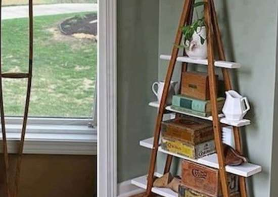 DIY Crutches Shelf