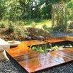 Backyard Deck and Pond