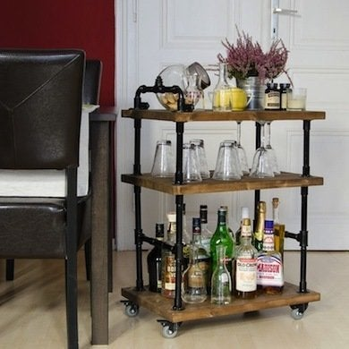 Trendy bar cart diy home bar 17 designs you can make for Mini bars for your home