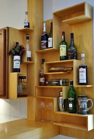 bar can fill a gap between cabinets or make great use of an awkward