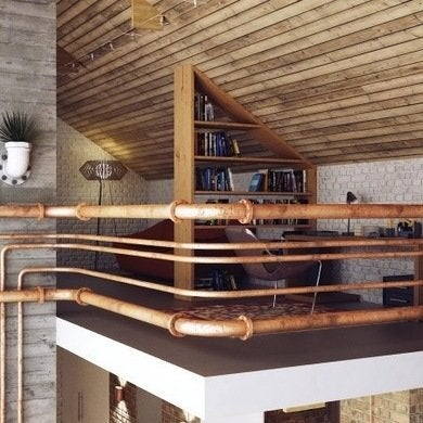 Exposed Beams Pipes Ducts And More Unconventional Home