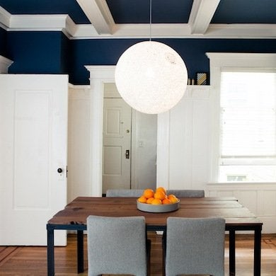 Navy Blue Painted Ceiling Painted Ceiling Ideas 11