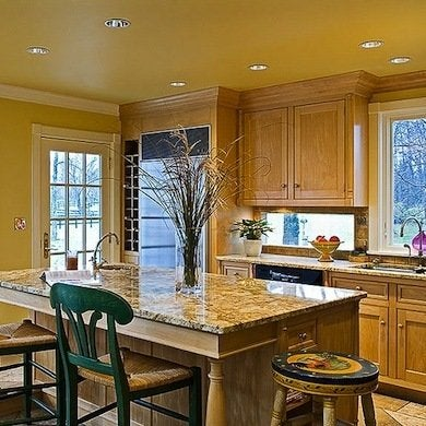 Yellow Painted Ceiling - Painted Ceiling Ideas - 11 Colors ...