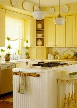 If Youu0027re Looking For Cheery, You Canu0027t Do Better Than Yellow Painted  Cabinets. Even A Compact Kitchen Like This Becomes Welcoming And Bright  With The Right ...