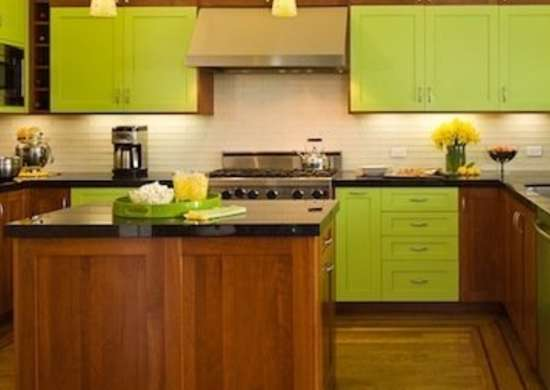 Bright Green Cabinets