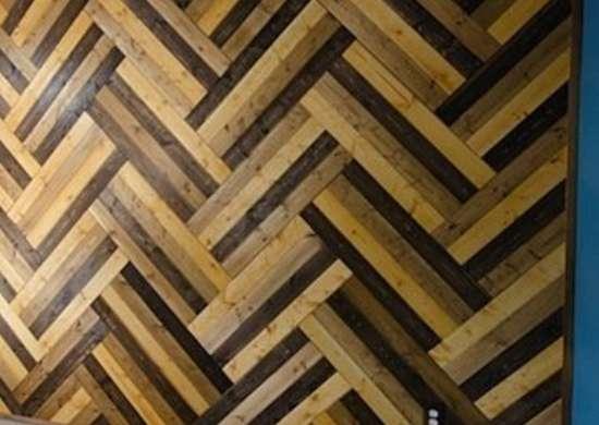 DIY Patterned Wood Wall