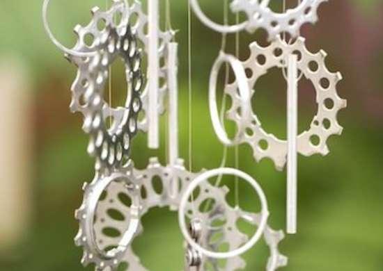 DIY Windchime Bike Gears