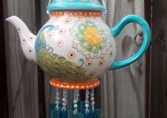 DIY Windchime Vintage Teapot