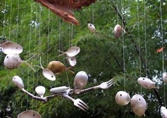 DIY Windchime Silver Spoons