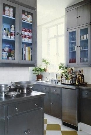 Silver Cabinets - Painted Kitchen Cabinets - 14 Reasons to ...
