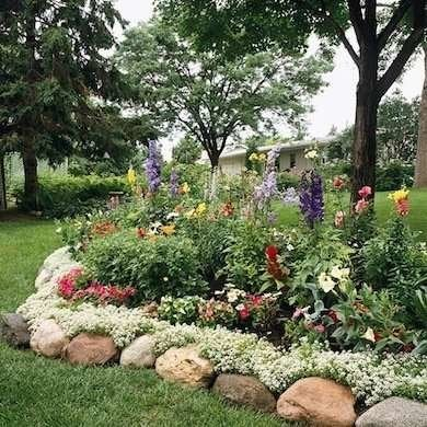 River Rock Garden Edging