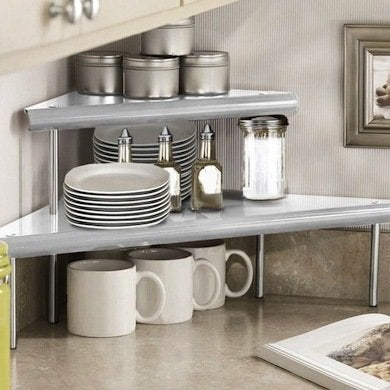 corner counter shelf kitchen counter ideas 14 ways to get more space bob vila. Black Bedroom Furniture Sets. Home Design Ideas