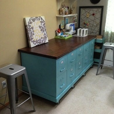 Filing Cabinet Craft Counter. 1bc2c67090101749ae12e9583b341ad2. This DIY Craft  Table ...