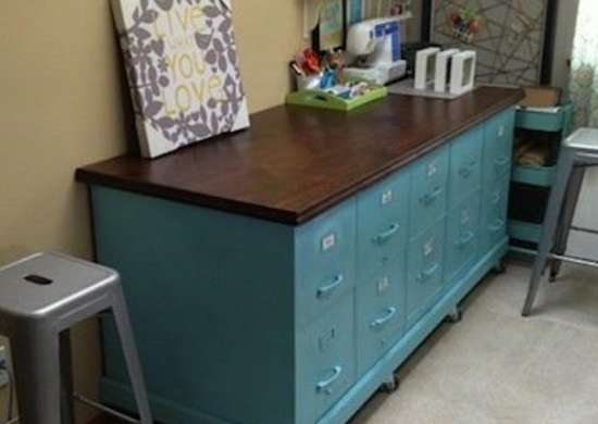 Diy Filing Cabinet Bench Diy Craft Table 15 Great Work Spaces Bob Vila