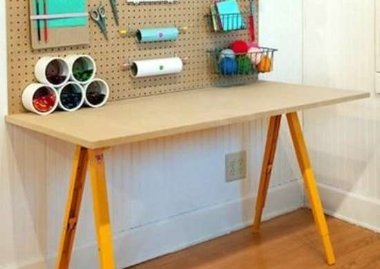 DIY Pegboard Workbench
