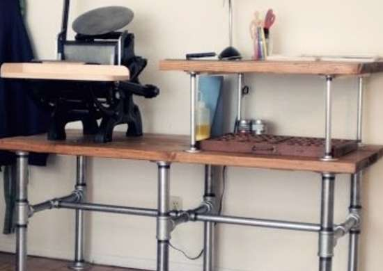 DIY Pipe Workbench