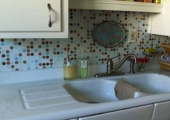 DIY Contact Paper Backsplash