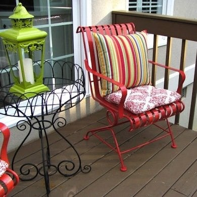 Spray Painted Patio Chair