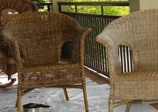 Treating Wicker with Tung Oil DIY Outdoor Furniture 12
