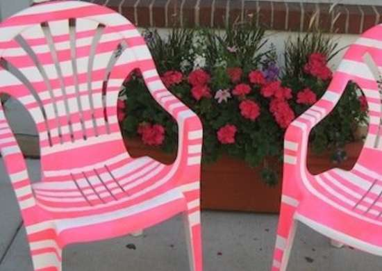 Painted Plastic Furniture