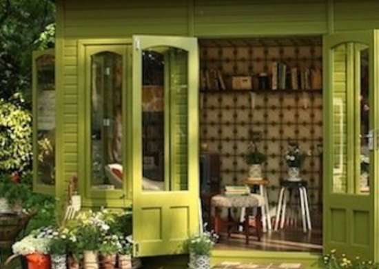 This Garden Shed Has Been Decked Out To The Nines. Designer Orla Kiely  Created The Intimate Home For A Flower Trade Show, But We Wouldnu0027t Mind  Planning A ...